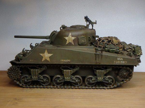 Le SHERMAN M4A3 revu par Marc