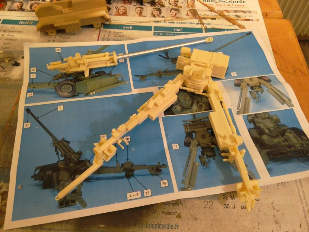 VAB Ultima génie, VT4 et canon de 155 mm Trajan au 1:48 (par Jean-François)