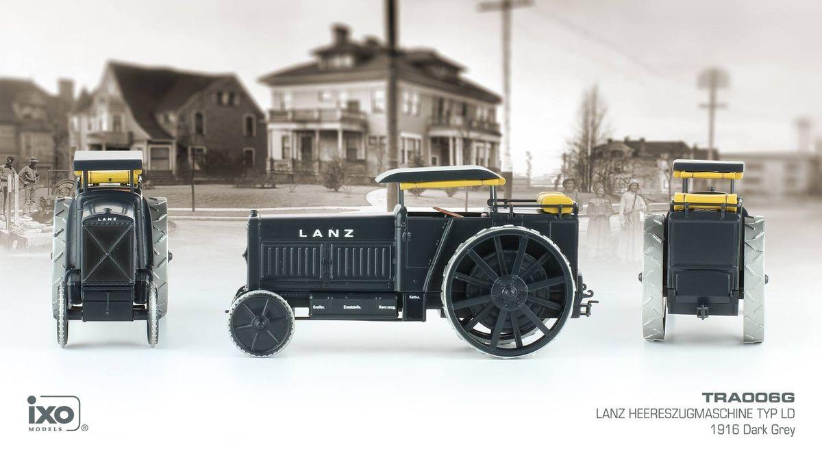 Tracteur d'artillerie allemand Lanz Typ LD de 1914 au 1/43 (Hachette)