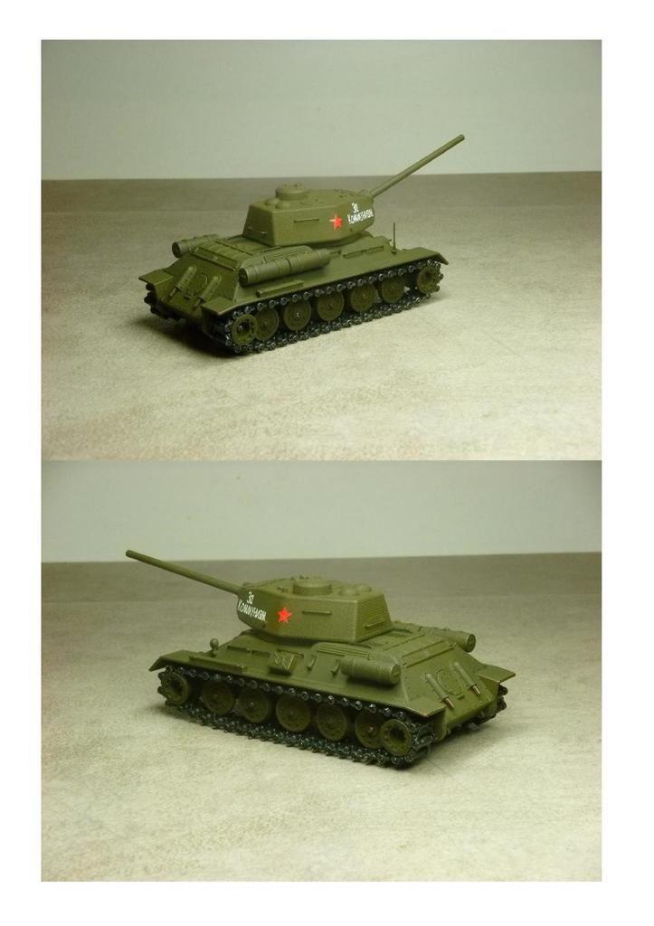 Chars russe T34/76 et T-34/85 - Impression 3D au 1/50 (par Jean-Charles)
