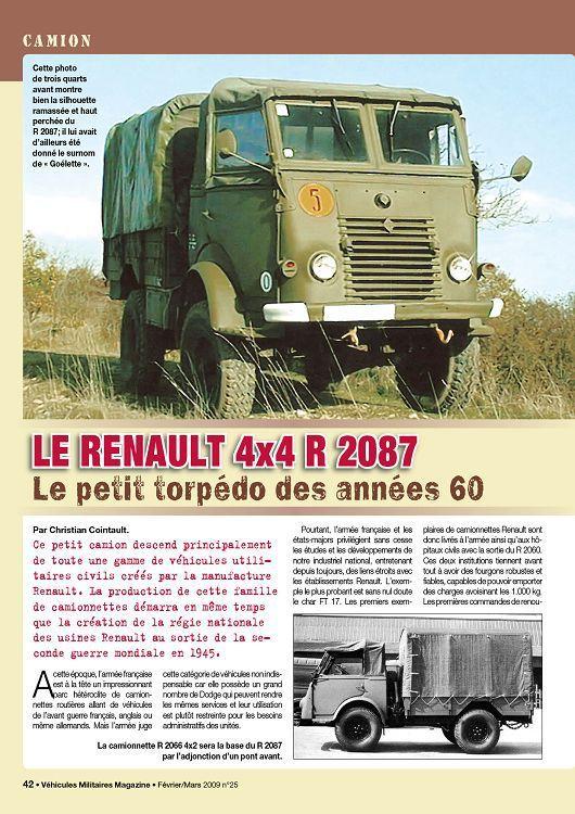 Extrait Véhicules militaires magazines