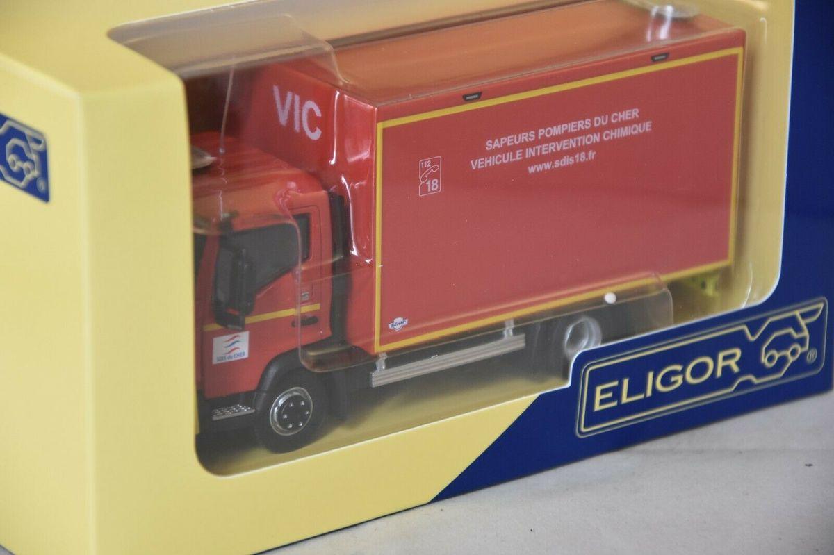 Renault D double cabine 2 M 7,5t VIC SDIS 18 au 1/43 (Eligor)