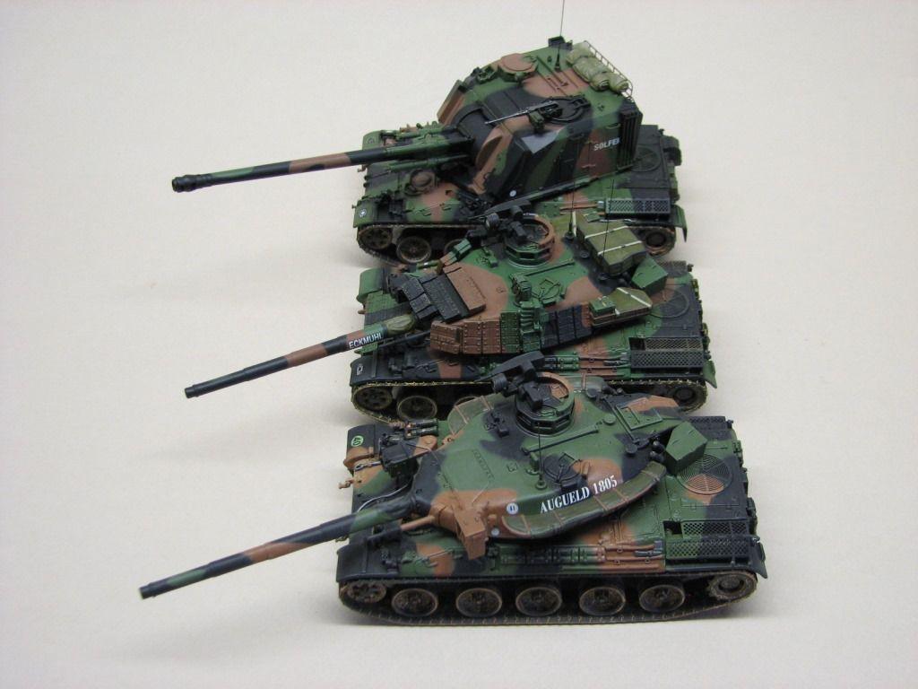 Sur les phoro ci-dessus : AMX-30 B2, AMX-30 B2 Brennus et AMX-30 AU-F1 de chez Master Fighter au 1/48