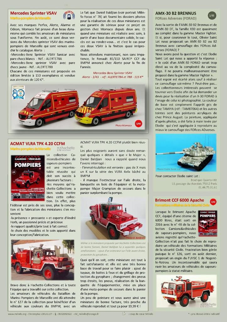 Milinfo-Focus n° 82 : TRM 2000 Gendarmerie Perfex au 1:43