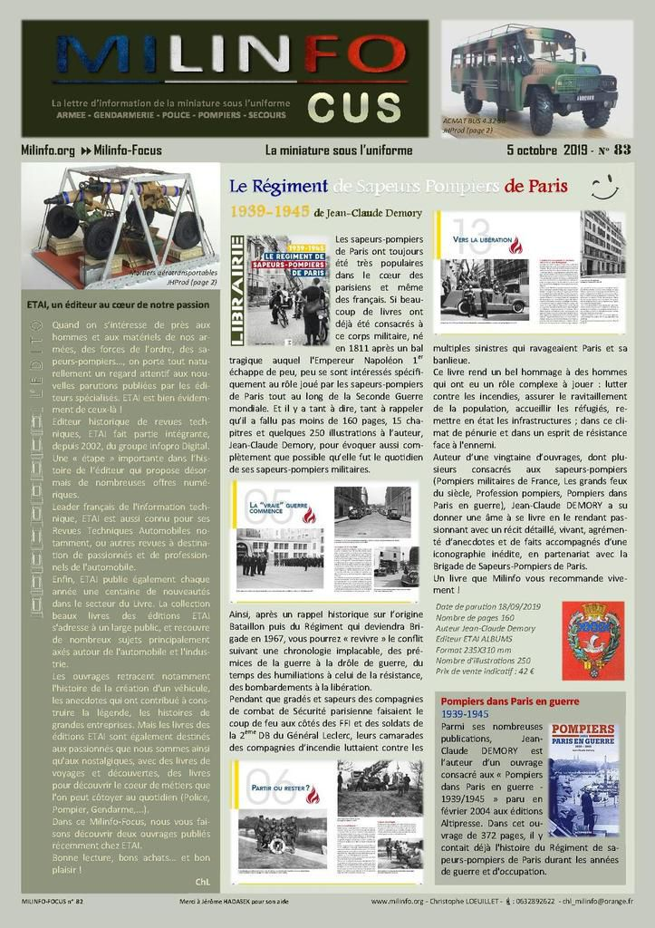 Milinfo-Focus n°83 : nouveautés librairie ETAI