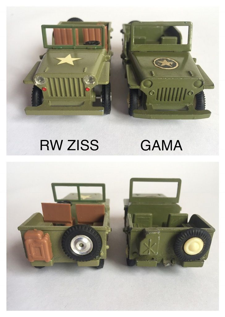 JEEP RW ZISS 1 :43 – Made in W. GERMANY (par Jérôme Hadacek)