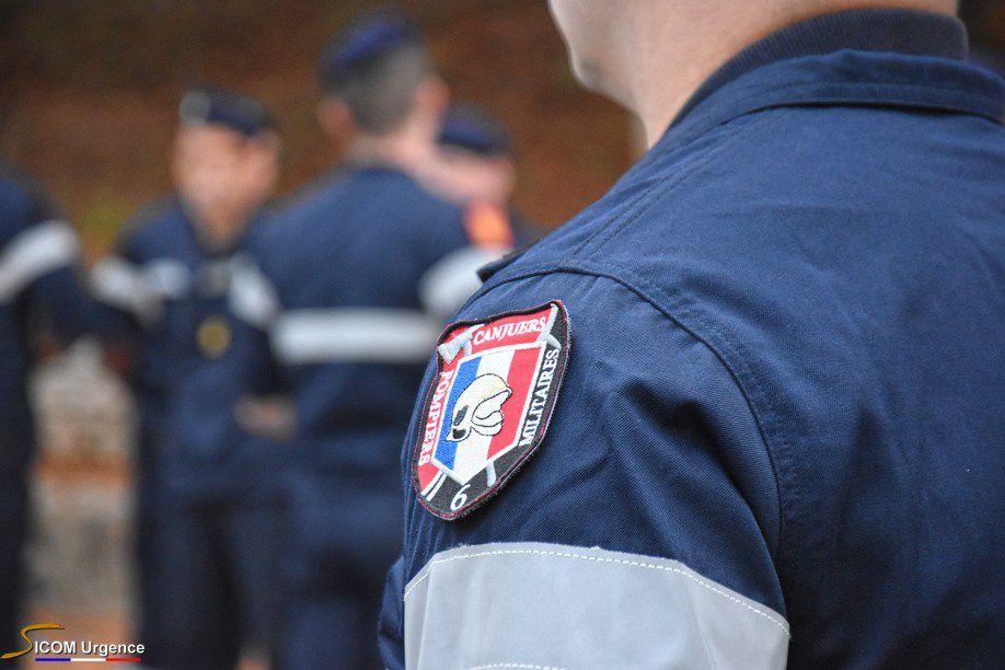 Avec les pompiers militaires du Camp de Canjuers...