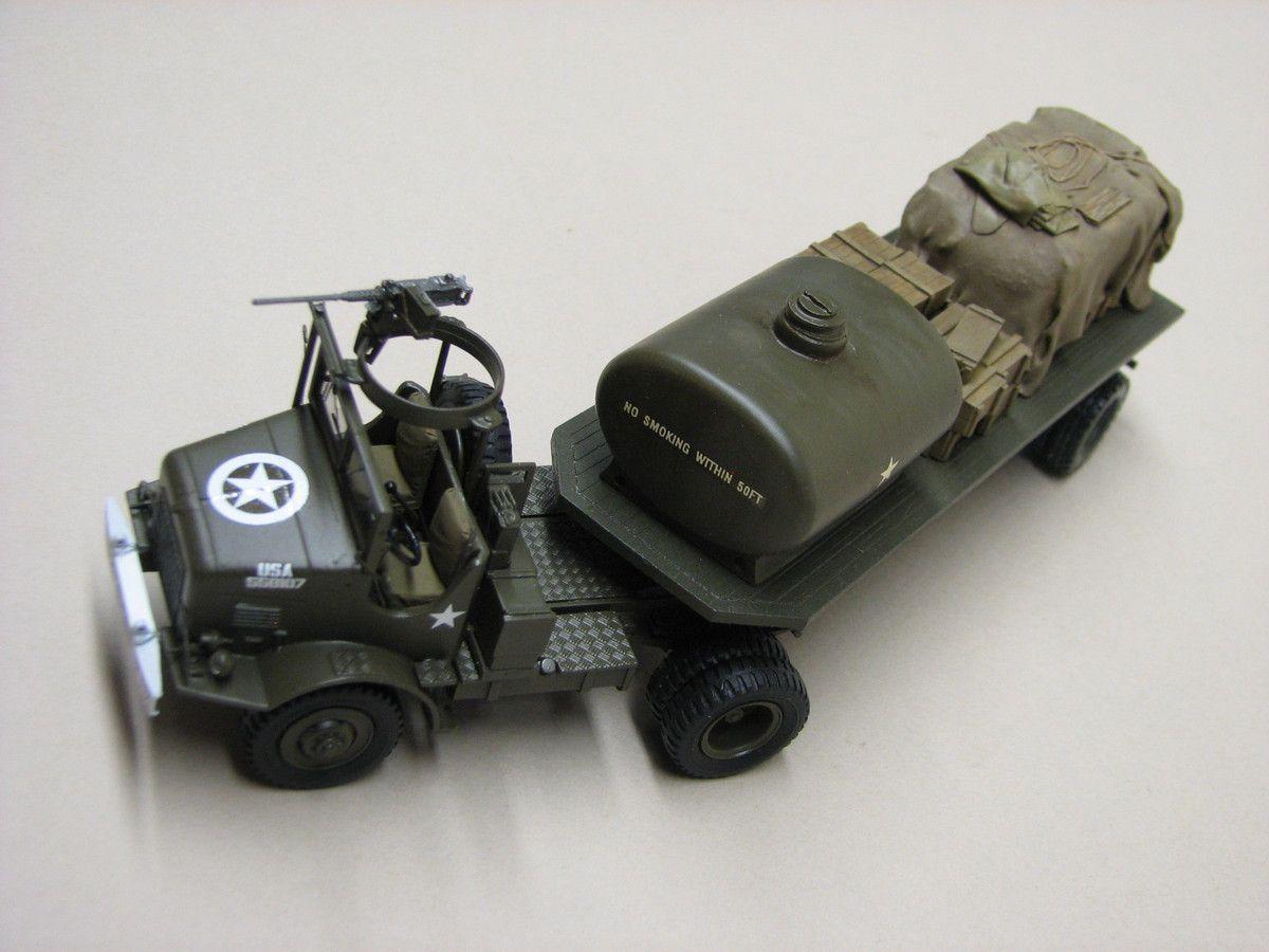 Tracteur M426 avec semi-remorque 1/48 (par Robert B. et Florent V.)