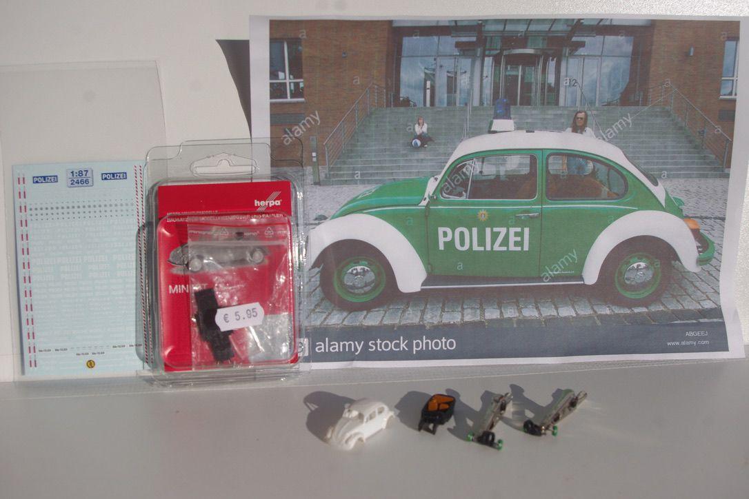 Volkswagen Coccinelle Polizei au 1/87 (Jean-pierre B.)