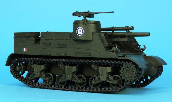 M7 Priest et Sherman M4A1 au 1/48 (par Elodie)
