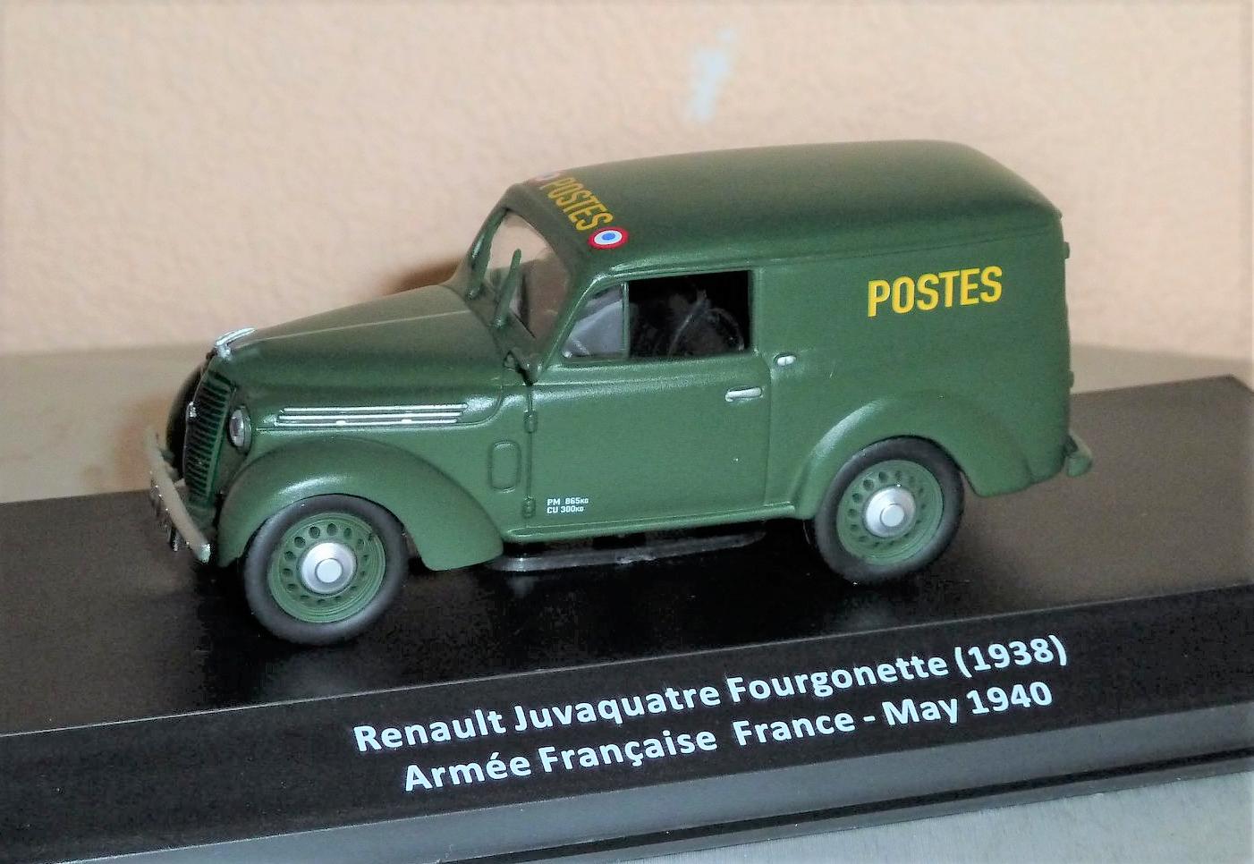 """Renault Juvaquatre Fourgonnette """"Postes aux armées"""" (Altaya)"""
