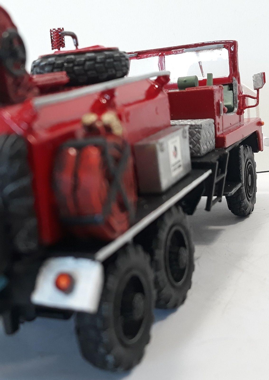 """Modif : Berliet GBC 8 KT """"pompiers"""" sur base Solido (par Chris)"""