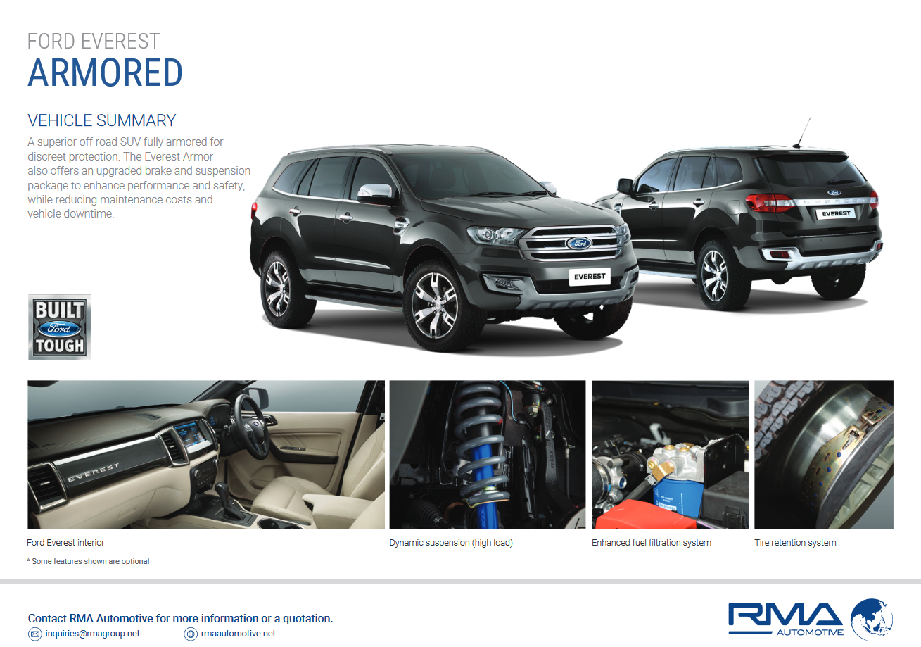 Les Ford Everest de RMA Group (Thaïlande)