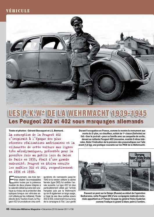 Véhicules Militaires Magazine n°36 déc 10/jan 2011