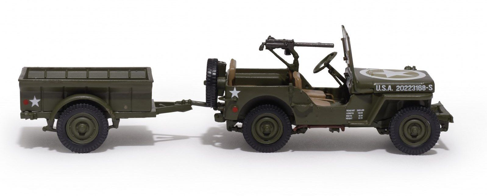 Jeep Willys au 1/43 (Hachette-Collections)