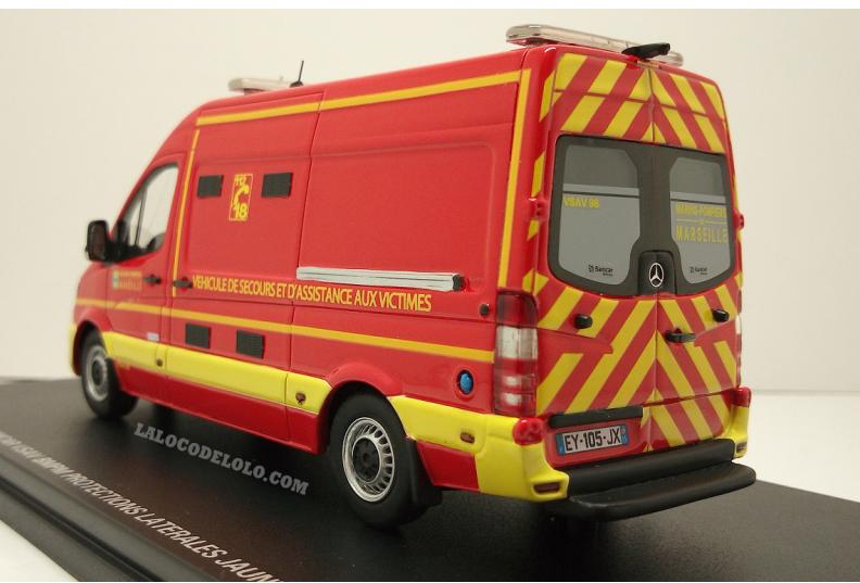 Mercedes Sprinter du BMPM et SDIS 38 au 1/43 (Alerte)