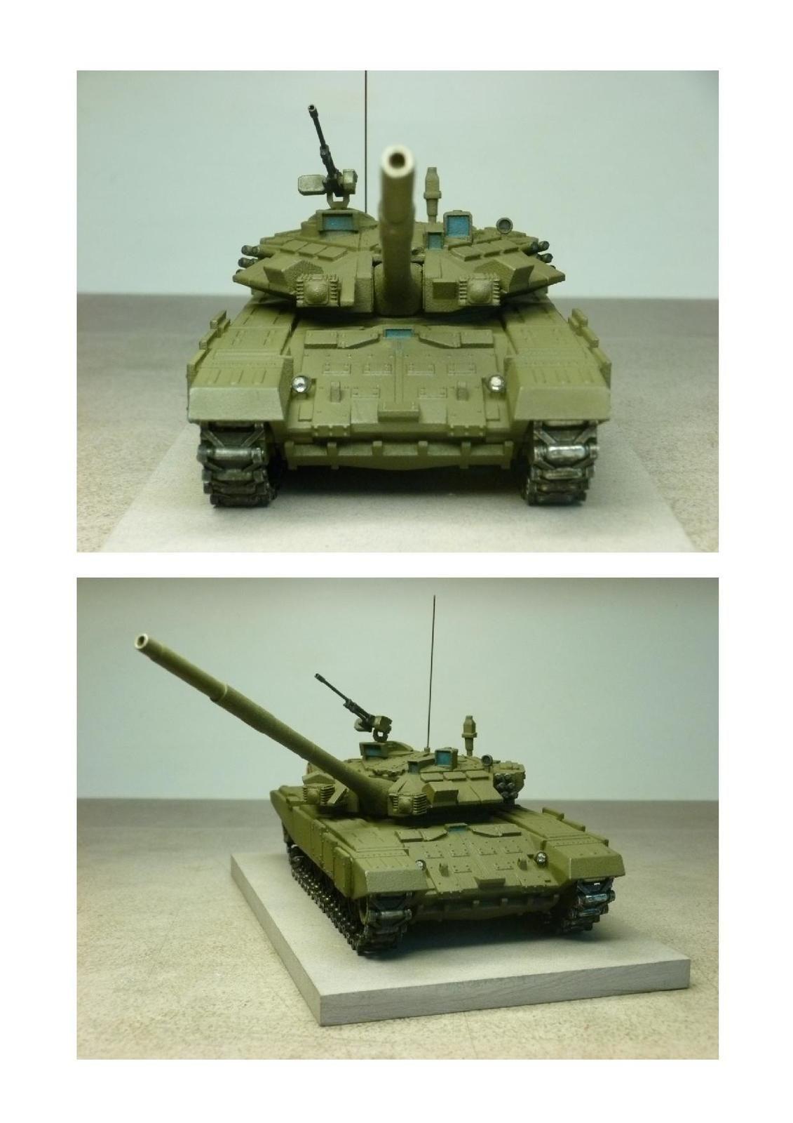 Impression 3D  : char T90 au 1/50 (par Jean-Charles)