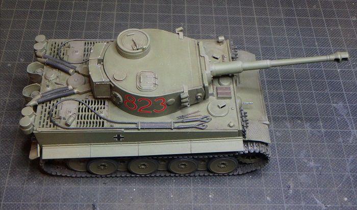 Char Tigre I  (Tamiya Masterwork - 1/48 - par Marc H.)