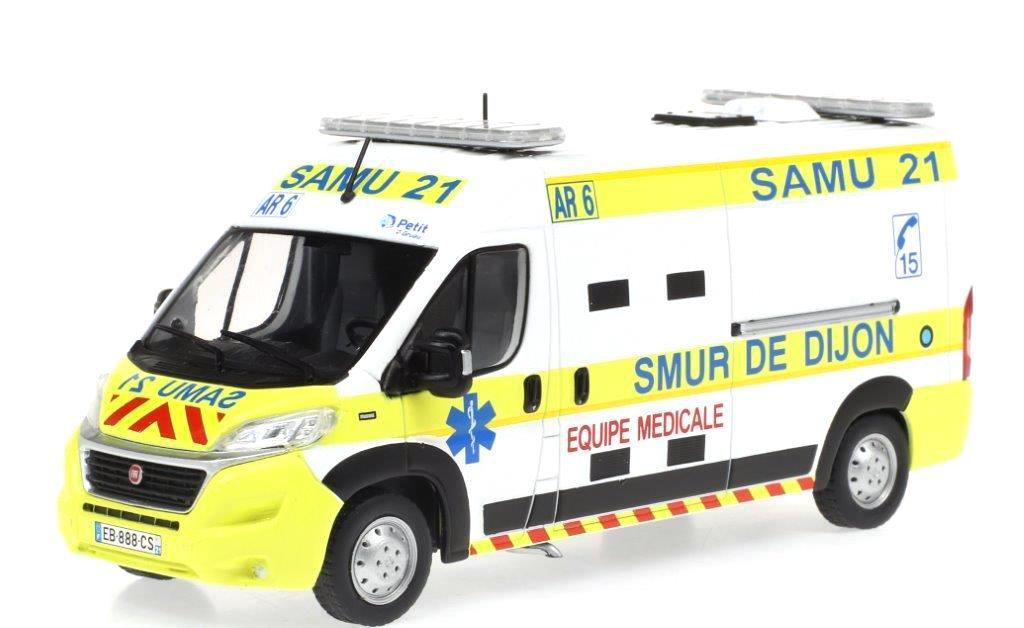 Citroën Jumper, Peugeot Boxer et Fiat Ducato VSAV (pompiers, SAMU, FORMISC)  au 1/43 (Odéon)