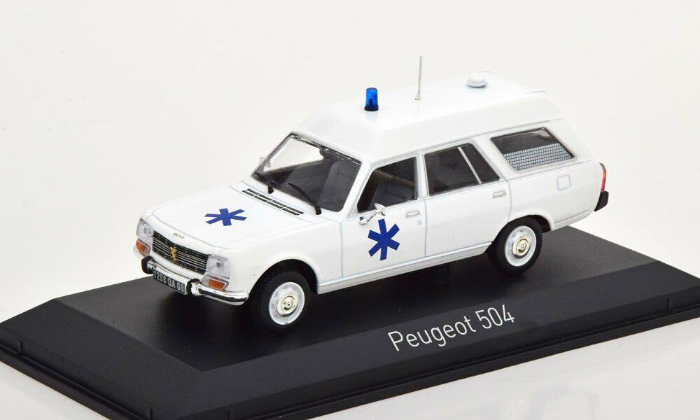 "Peugeot 504 Break 1979 ""Ambulance"" (Norev)"