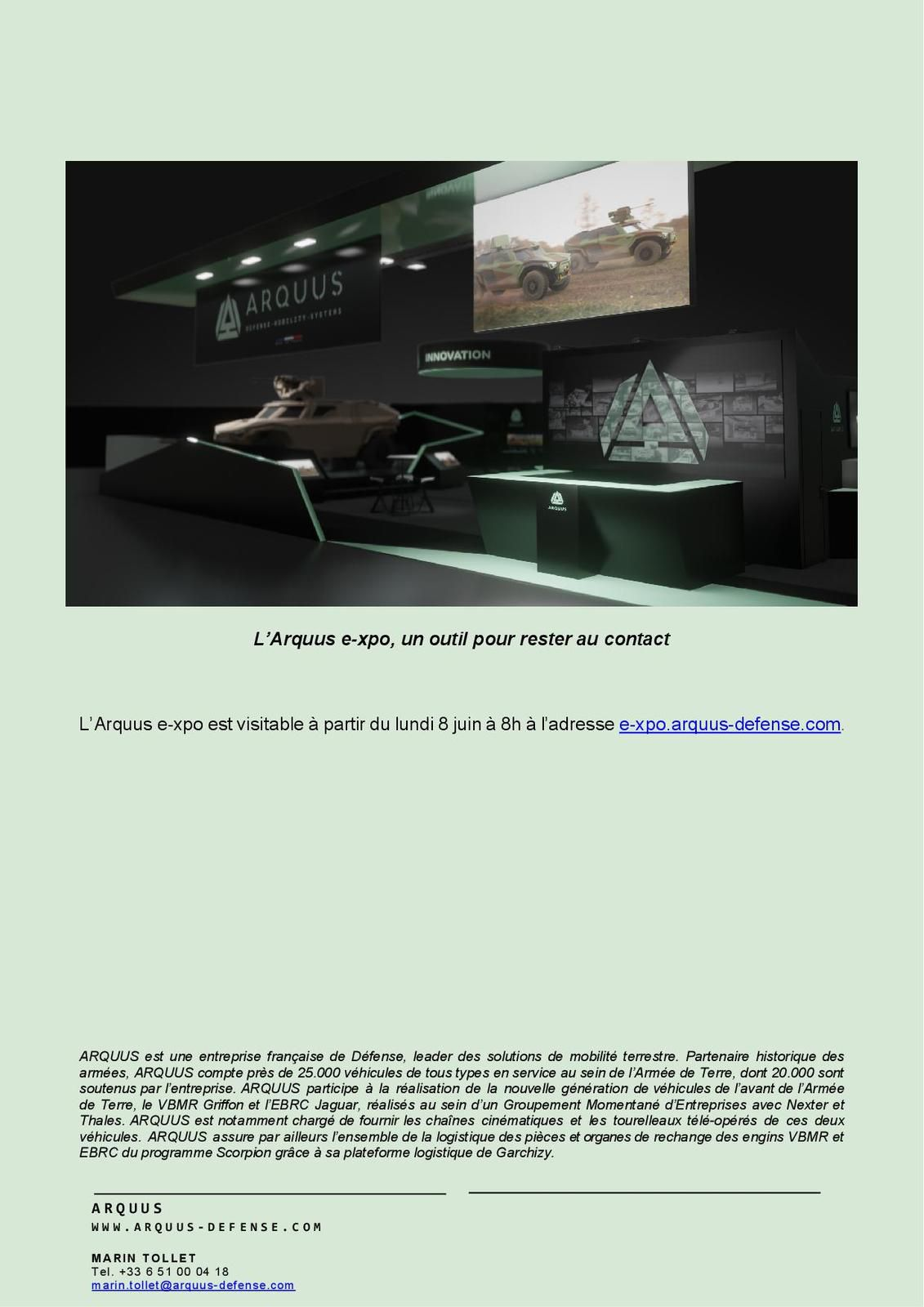 ARQUUS s'expose dans un salon virtuel