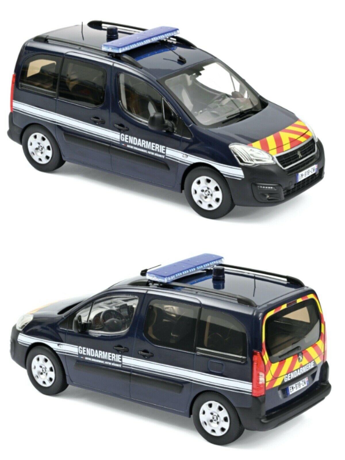 Peugeot Partner/Citroën Berlingo 2018 au 1/18 (Norev)