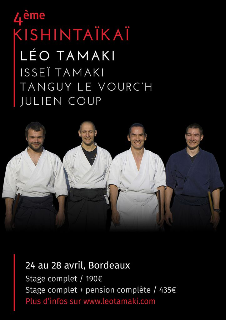 4ème KishinTaïkaï, 24 au 28 avril, Bordeaux