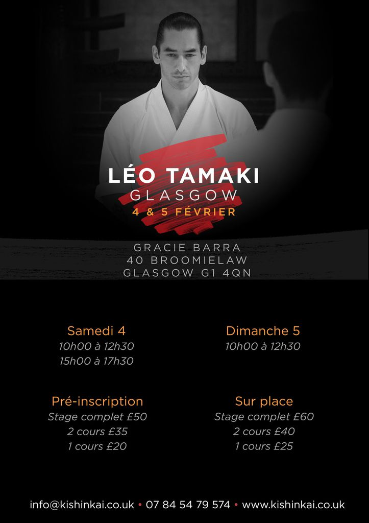 Léo Tamaki à Glasgow, 4 et 5 février