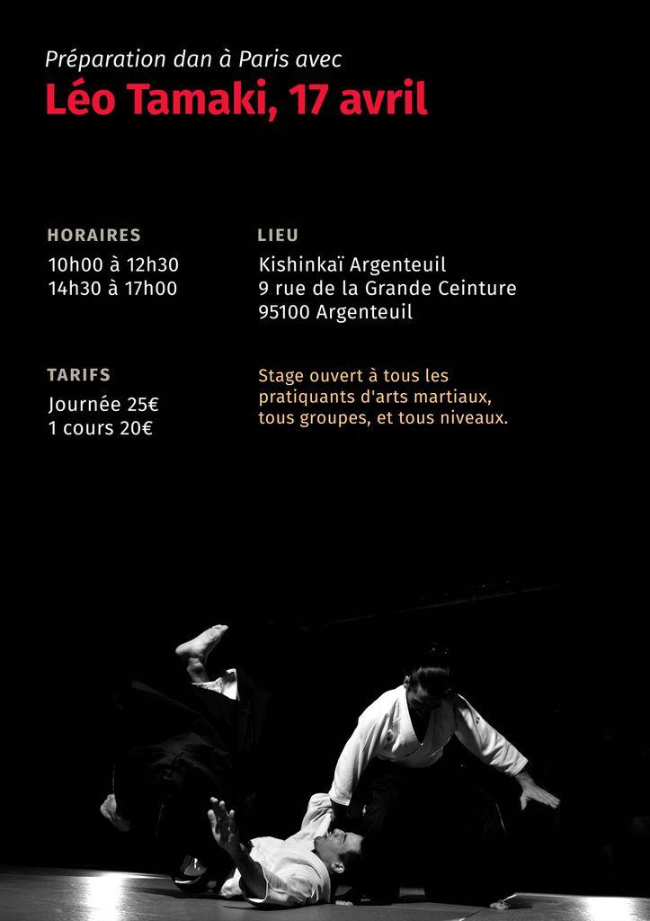 Préparation dan à Paris avec Léo Tamaki, 17 avril