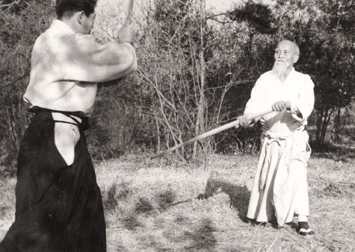 Ueshiba Moriheï et Saïto Morihiro