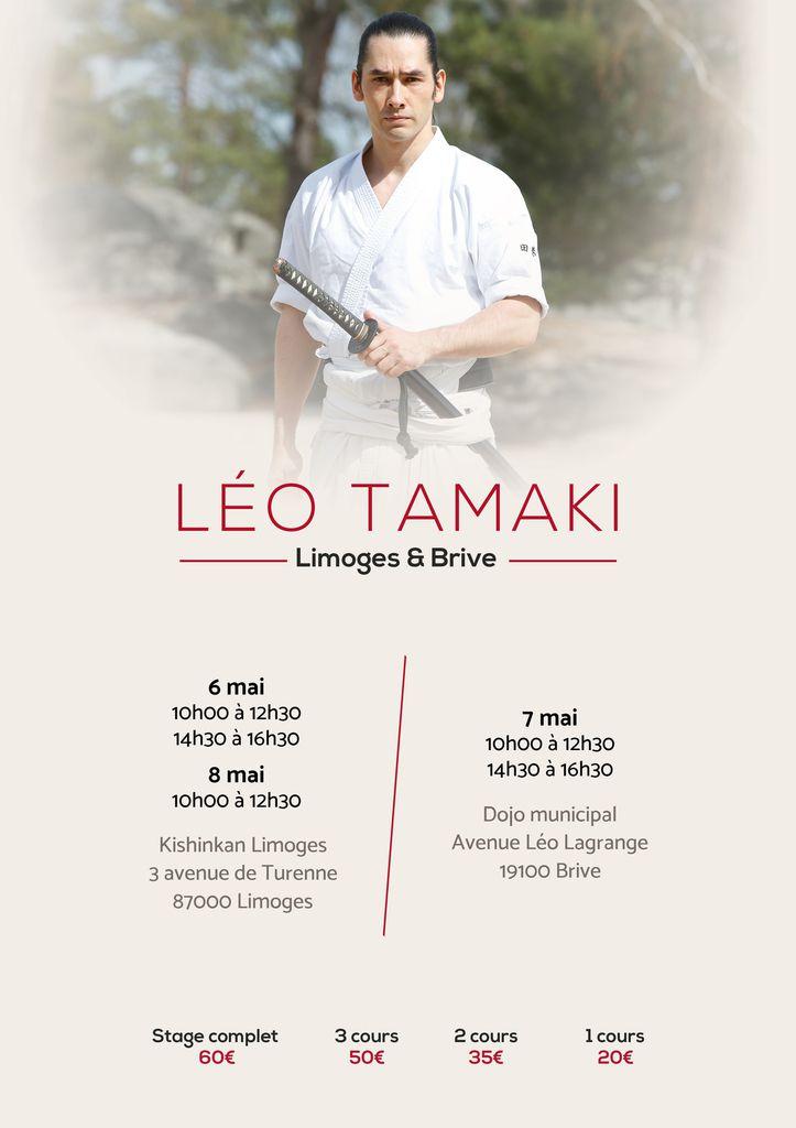 Léo Tamaki à Limoges et Brive, 6 au 8 mai