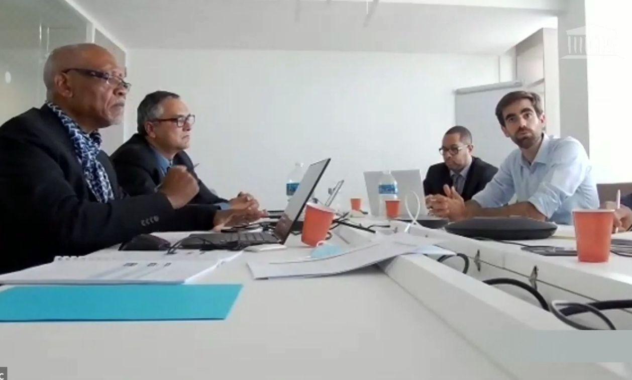 Prudence Ecoué (Martinique), Bernard Fontaine (Réunion), David Moueza (Guadeloupe) et Pierre Sebastien, le patron de Primevew