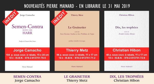 Des nouvelles des éditions Pierre Mainard (31 mai 2019)