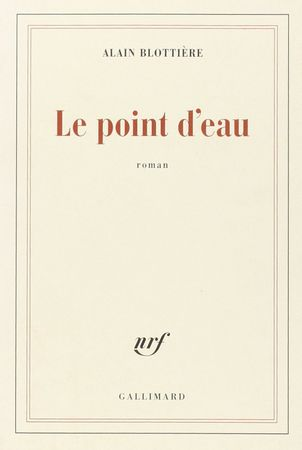 Le point d'eau, Alain Blottière