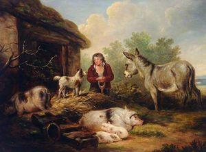 Comme il ne pouvait la voir en peinture il lui lança  « Vous reprendrez bien un peu de fromage de tête ? »