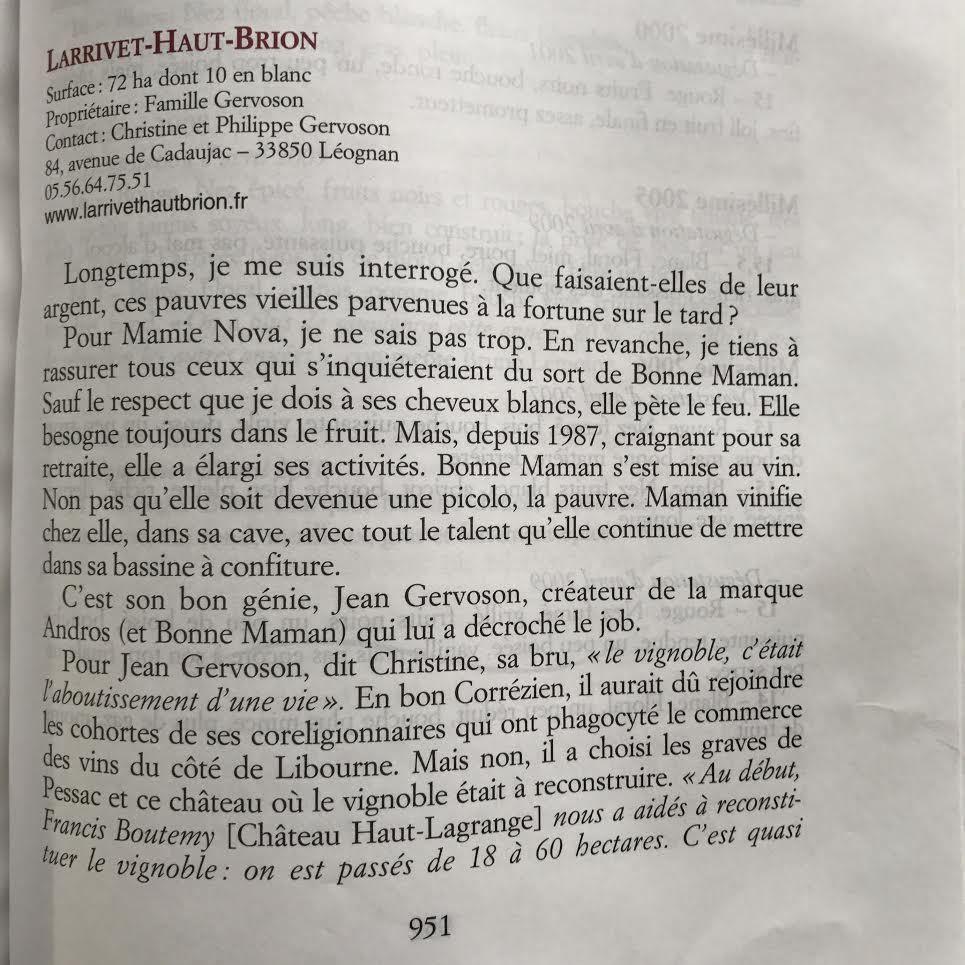 Mes lecteurs sont sympas ! Louis & Charlotte Perot L'Ostal – Philippe Gervoson château Larrivet Haut-Brion