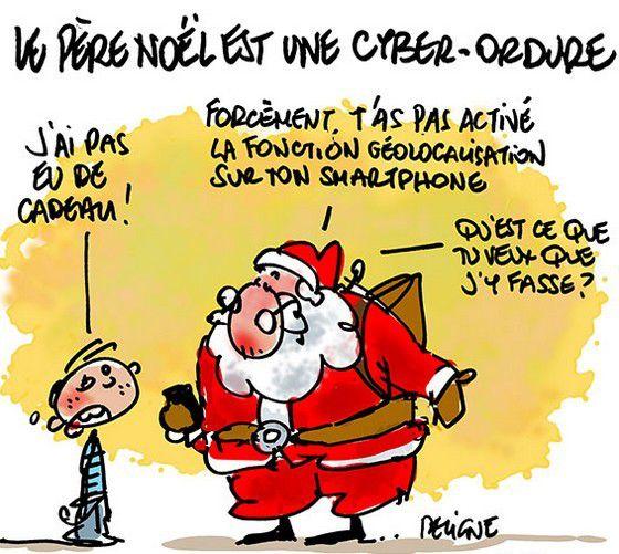 Comme le père Noël était déjà une ordure à Dijon le 23 décembre 1951 où il fut pendu aux grilles de la cathédrale et brûlé.
