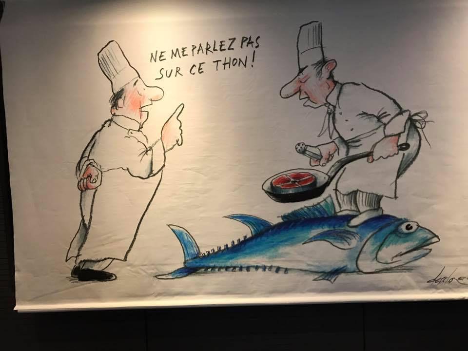 Jean-Claude Ribaut, promeneur-chroniqueur de la critique gastronomique, et son complice Desclozeaux, le nouveau Daumier, meilleurs révélateurs de la misère intellectuelle de leurs successeurs…