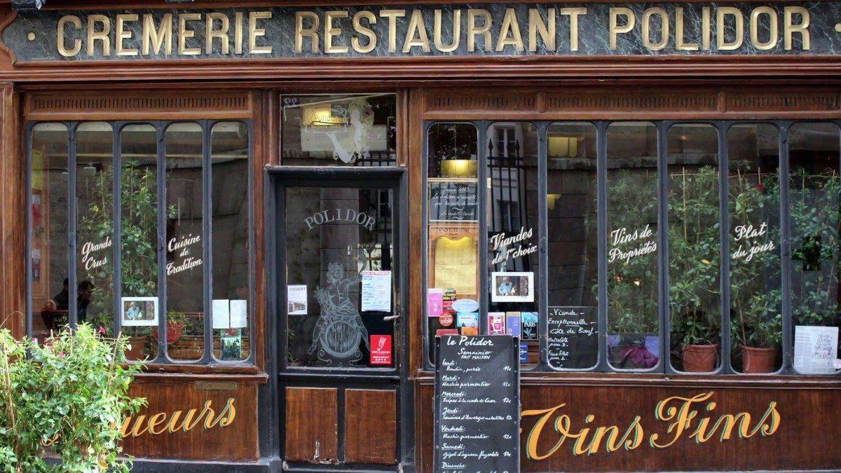 La France, Paris vu par 2 new-yorkais, Amy et Ferguson, 18 ans, juillet 1965, ils dînaient dans des restaurants bons et pas chers comme la crèmerie Polidor un des endroits où, dit-on, mangeait James Joyce.