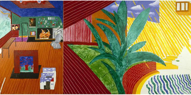 "David Hockney, ""Hollywood Hills House"", 1980, Collection Walker Art Center, Minneapolis. Gift of Penny and Mike Winton, 1983 © David Hockney"