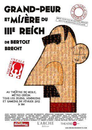 La résistible ascension de Benoît H au troisième sous la houlette d'un Jésus de Nazareth, enveloppé dans un drap de lin, une grosse douzaine d'individus des deux sexes, déclamaient du Brecht (118)