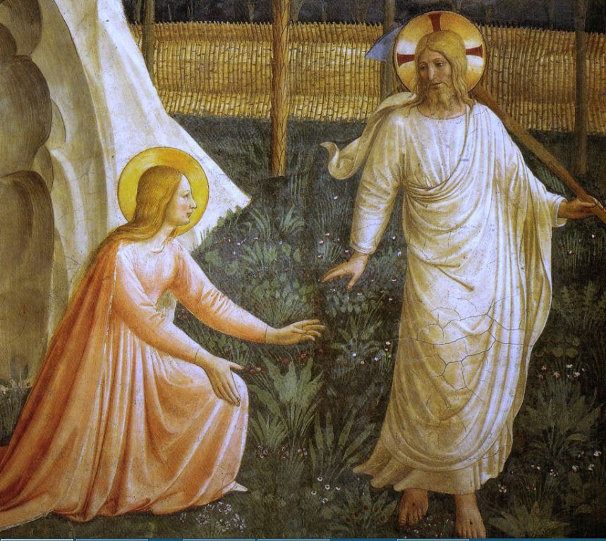 Fra Angelico. Noli me tangere, détail
