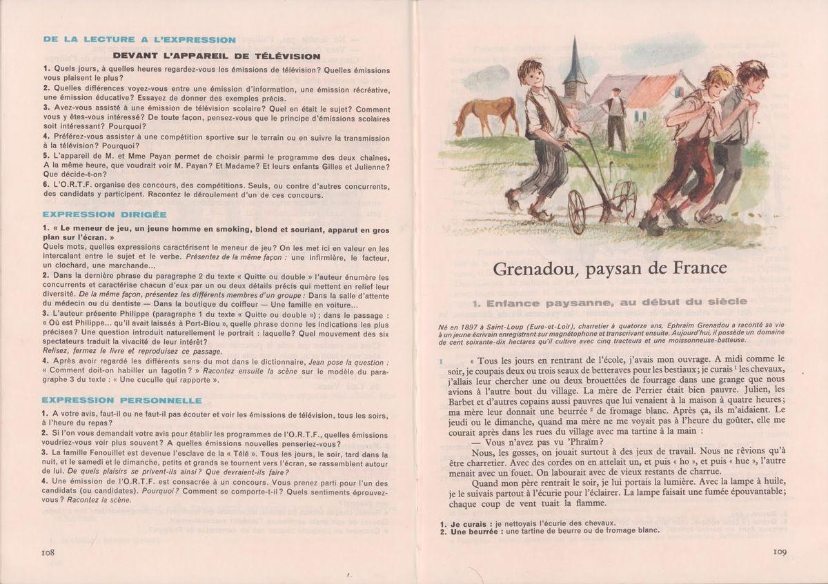 Dédié aux petites louves et petits loups Grenadou paysan français « L'histoire d'être cultivateur, c'est d'observer. Toutes ces plantes-là, c'est comme des animaux, ou même des enfants. »