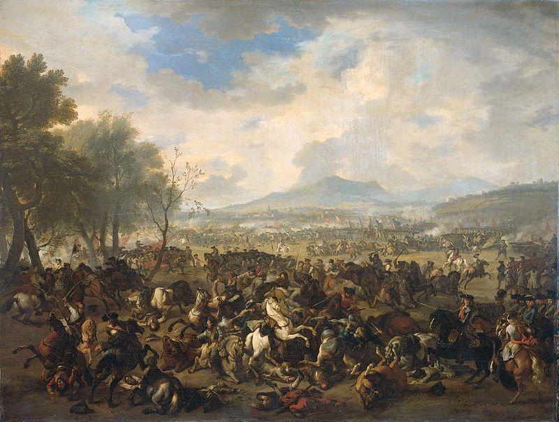 Bataille de Ramillies contre les anglais, 1706.
