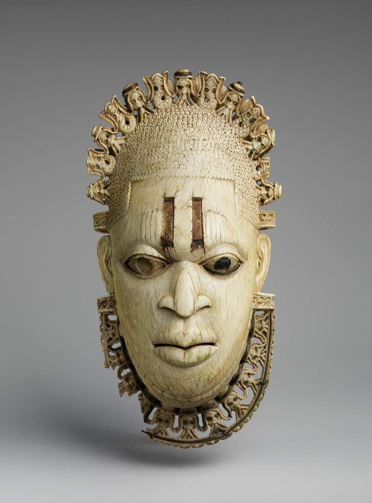 Ivory pendant mask, Iyoba, 16th century Nigeria. The MET