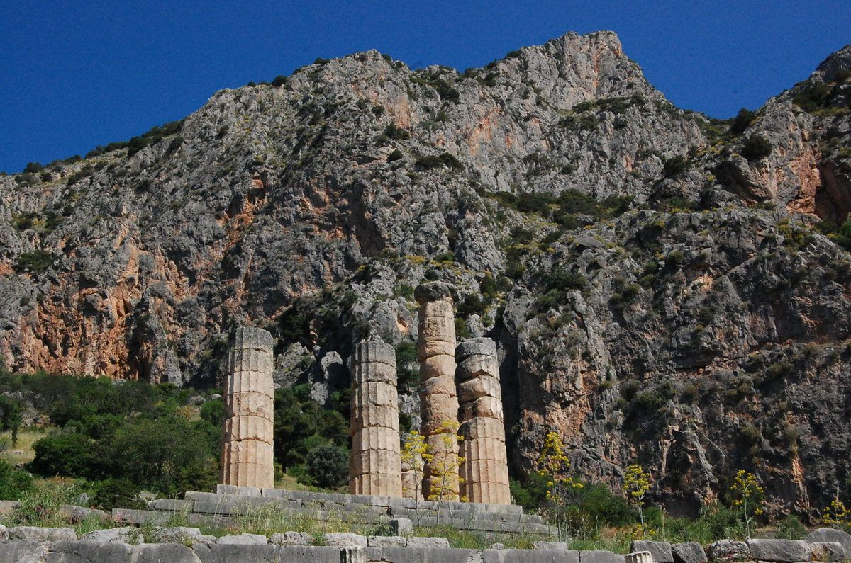 Delphes et le Temple d'Apollon - Photos: Lankaart (c)