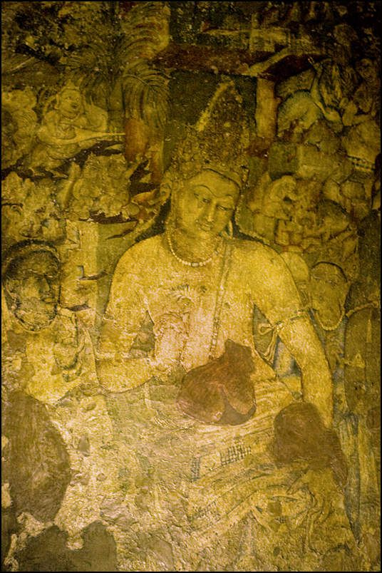 Ajanta fresques - Photo: Lankaart (c)