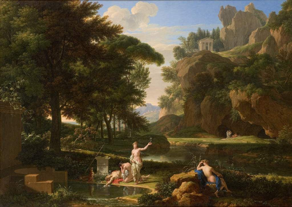 Fabre - La mort de Narcisse - Musée Fabre Montpellier - 1814