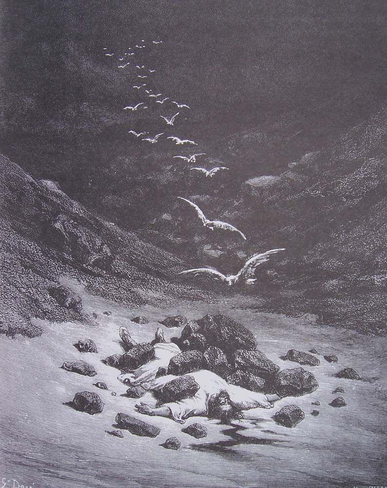 Gustave Doré - Achan lapidé