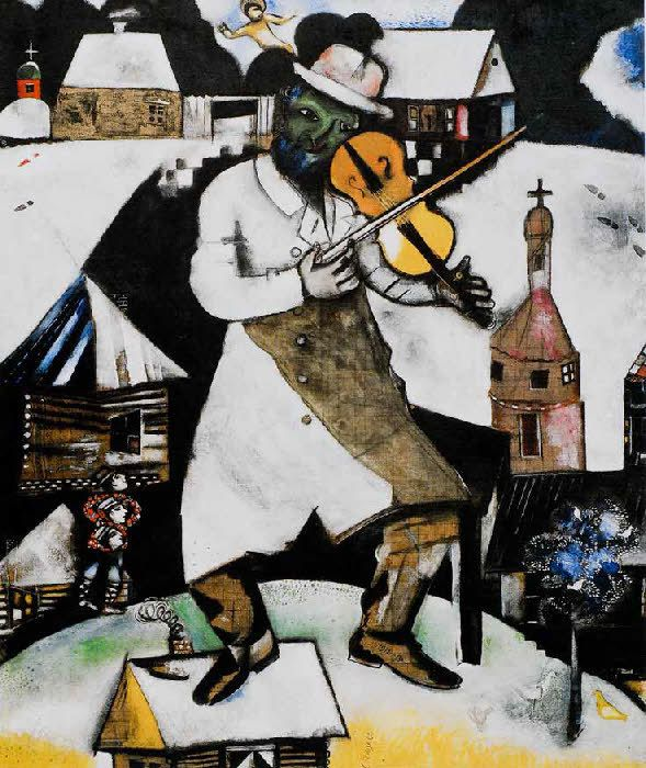 Chagall - Le violoniste vert